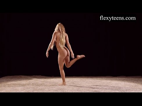 Naked gymnastics video
