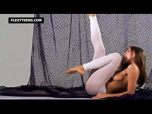Sexy young gymnast Salaskina