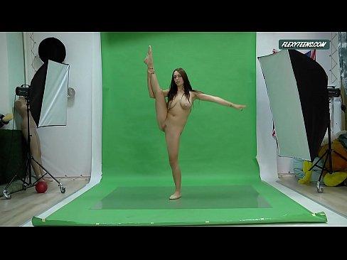 Busty naked gymnast Nicole